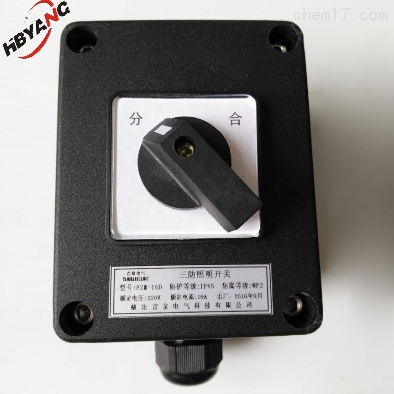 化工厂FZM-10A密闭防水防腐照明开关IP65