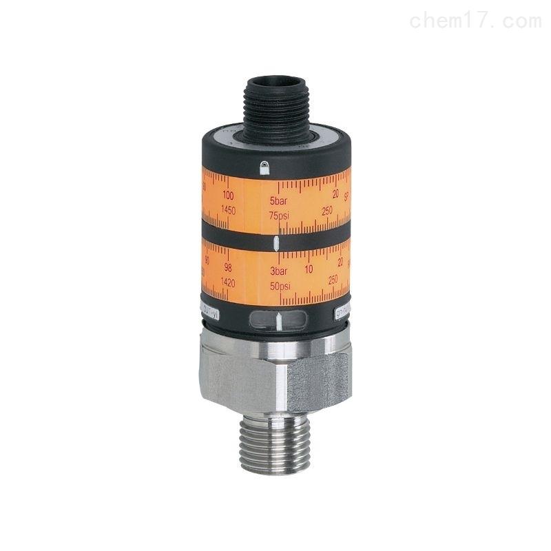 IFM压力传感器 带直观开关设定