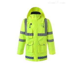齐全冬季雨衣棉大衣外套执勤反光工作衣防雨水服