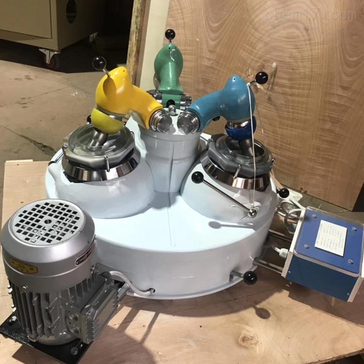 冶金院实验室用三头研磨机 玛瑙细磨机