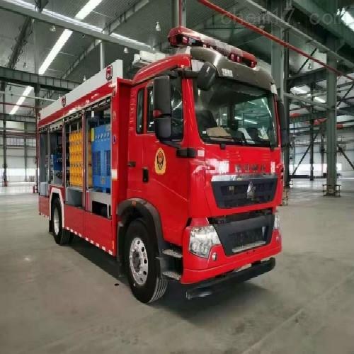 供气消防车充气系统