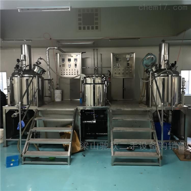 回收二手真空乳化机50L-1000L