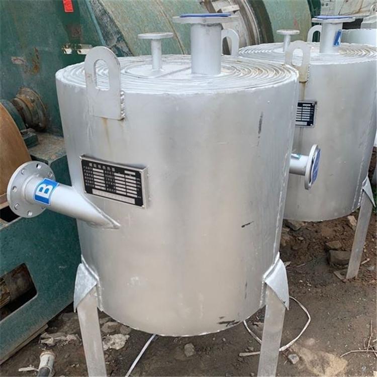 回收二手不锈钢40平方螺旋板换热器