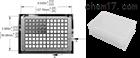 自动纯化蛋白质和核酸的2.2毫升96孔微孔板