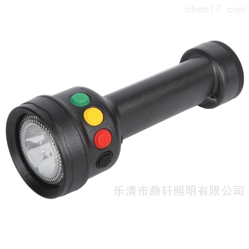 鼎轩微型多功能信号灯红黄白电筒充电器电池