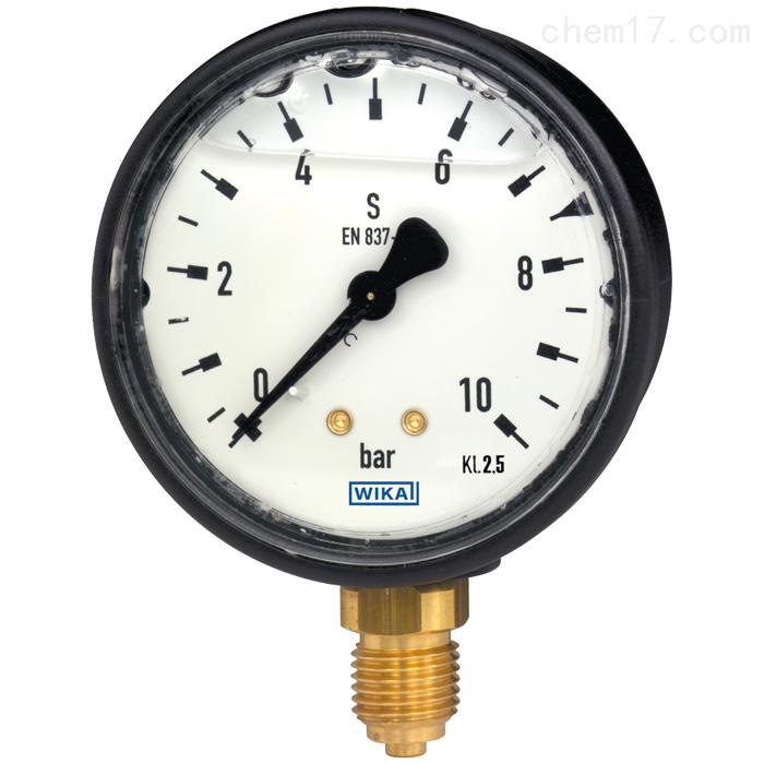 德国WIKA威卡波登管压力表,铜合金材质