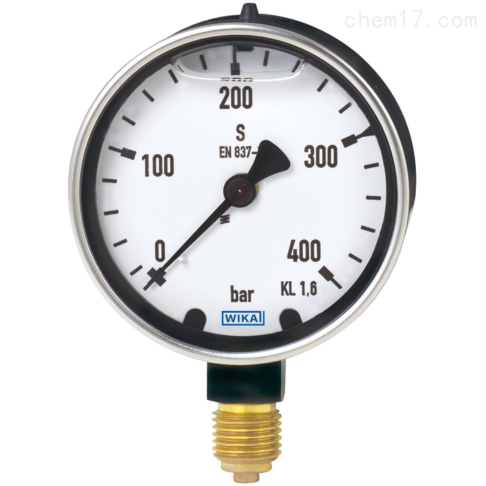 WIKA威卡波登管压力表不锈钢材质量程600MPa