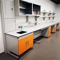 YJSY-12湛江易清洁医学院理化室钢木实验台柜定制