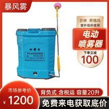 超低容量电动喷雾器暴风雾3WBS-16打药机