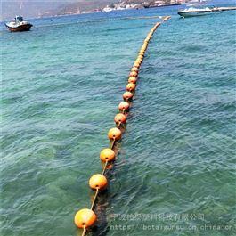 FQ600通孔式穿绳拦截塑料浮排警示隔离船只游客