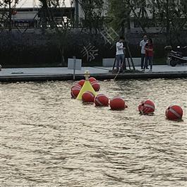 FQ600水上浮力拦截带警示塑料浮球隔离船只浮体