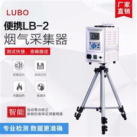 LB-2040智能双路烟气采样器 内置电池、彩屏触摸