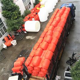 FT600*1000水电站案例使用拦截垃圾塑料拦污截污浮筒