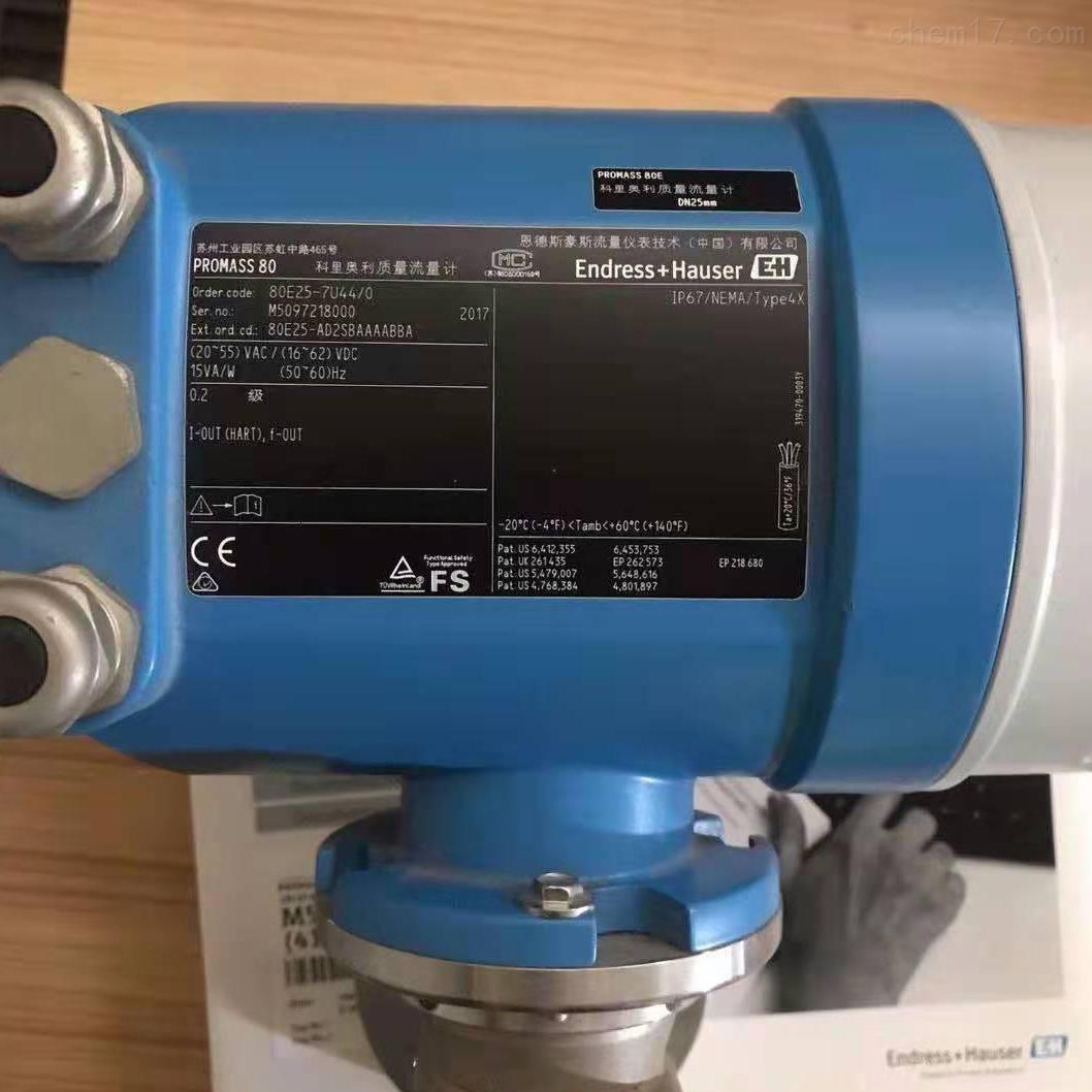 供应E+H 65F热式质量流量计