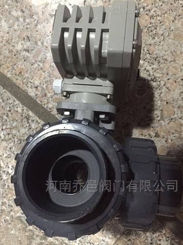 Q925F电动UPVC三通T型球阀