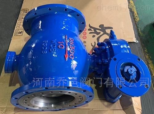 Q947MF钢铁厂电动耐磨卸灰球阀
