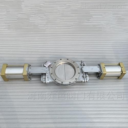 SPZ673W不锈钢气动双向开式插板阀