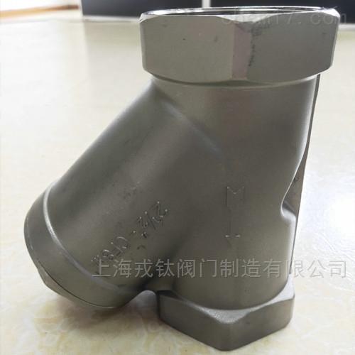 GL11W不锈钢丝口Y型过滤器