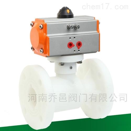 Q641F-10S气动PP聚丙烯塑料法兰球阀