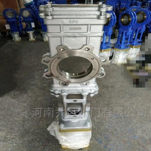 SCZ673W气动不锈钢穿透式刀闸阀