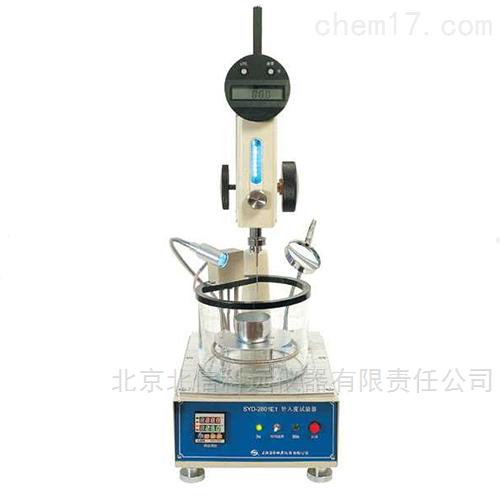 针入度试验器 测石蜡 带恒温浴石油蜡针入度测定仪 石蜡硬度鉴定仪