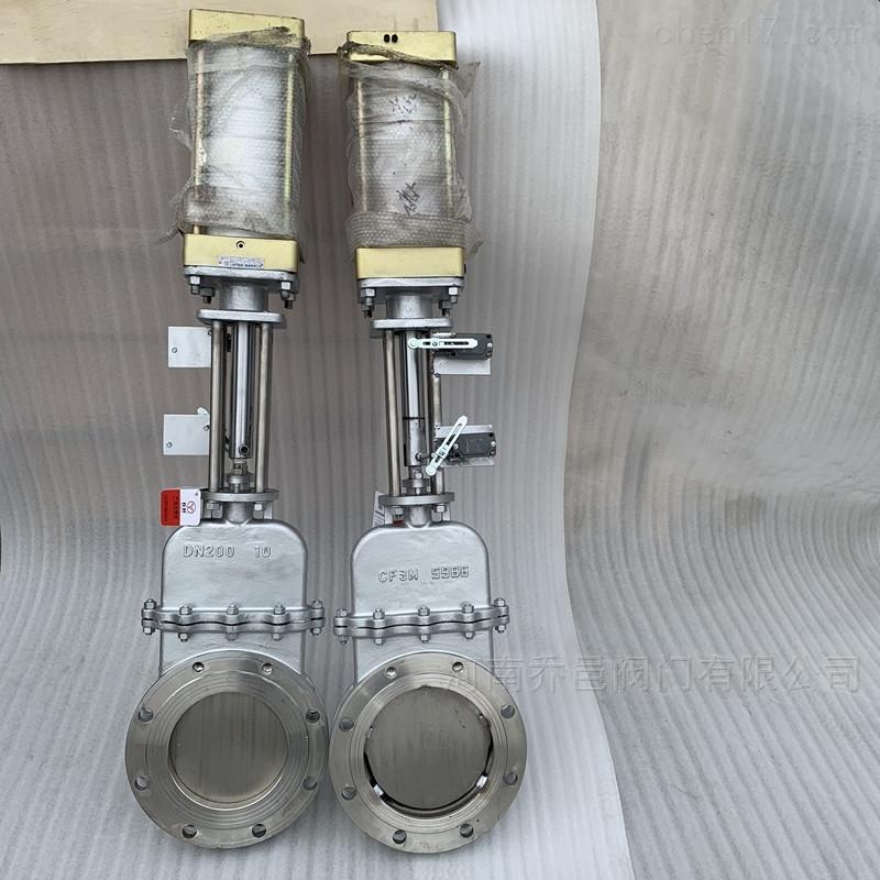 气动不锈钢暗杆插板阀 气动不锈钢暗杆闸板阀