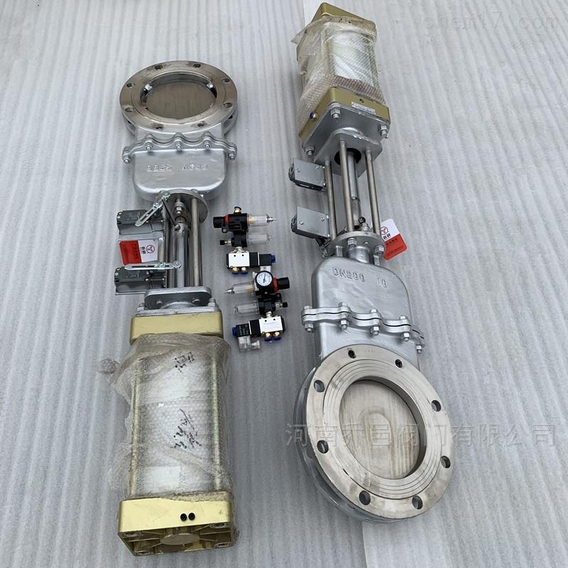 DMZ673W气动不锈钢暗杆刀型闸阀