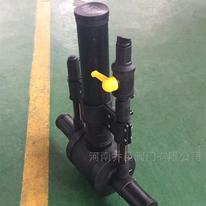 单放散型燃气PE球阀 PE燃气带双单散口球阀
