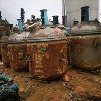 长期出售二手5吨搪瓷反应釜