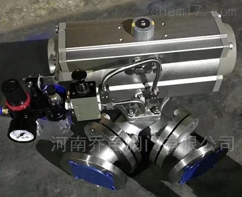 气动不锈钢Y型三通球阀