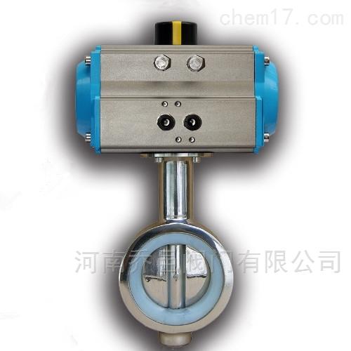 气动硅胶密封卫生级蝶阀