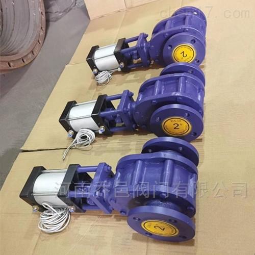 Z674TC气动陶瓷双闸板闸阀 气动陶瓷双闸板进料阀 气动陶瓷平衡阀