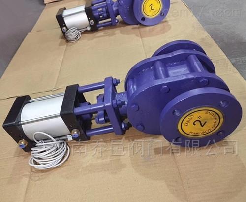 气动陶瓷仓泵进出料阀 气动陶瓷排堵阀