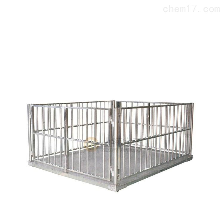称牛鸡鸭的电子动物秤,移动式动物围栏秤