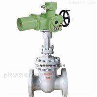智能调节型电动闸阀 Z941H-16C DN200 上海湖泉铸钢电动闸阀