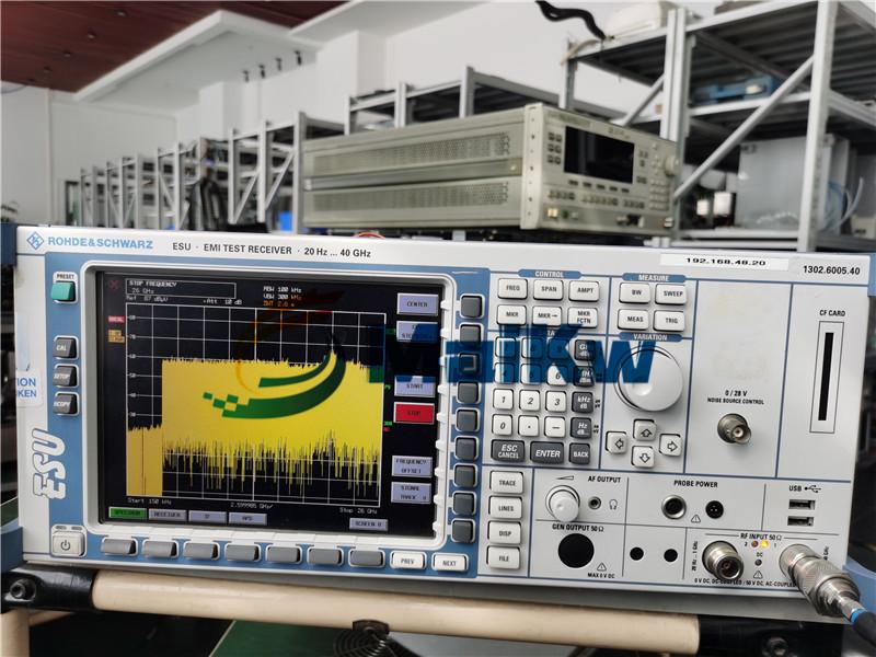 EMI接收机ESU40维修案例