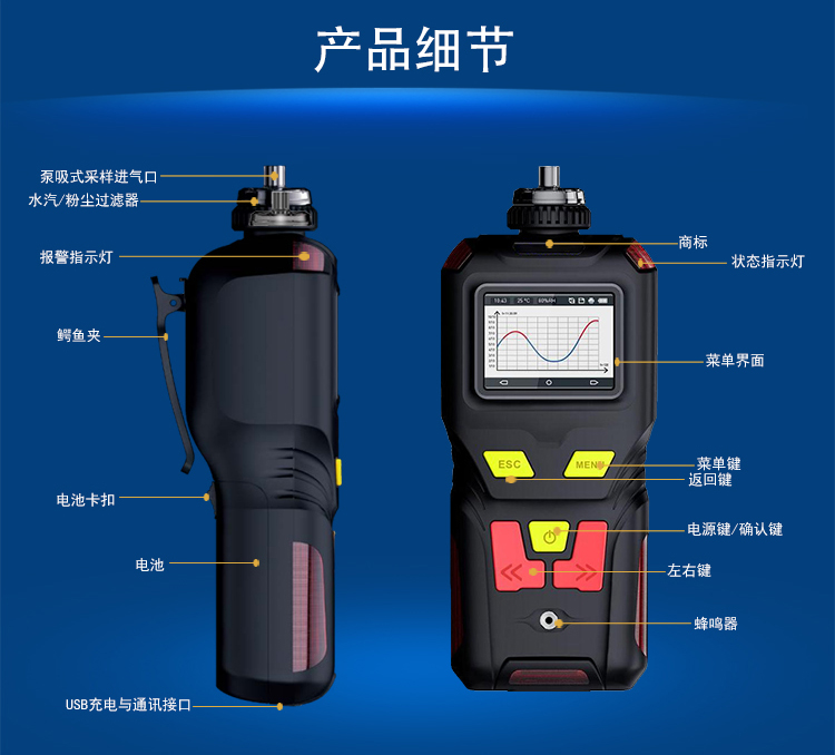 <strong>手持式泵吸型水合肼气体检测仪</strong>